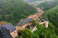 Castello ceco Karlstejn a Praga fotografie stock