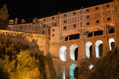 Castello in Cesky Krumlov Immagine Stock