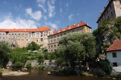Castello in Cesky Krumlov Fotografia Stock Libera da Diritti