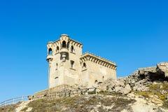 Castello in città di Tarifa, Spagna Fotografia Stock Libera da Diritti