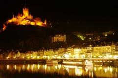 Castello a Cochem sul fiume della Mosella, Germania Immagini Stock Libere da Diritti