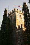 Castello on Colle di Giano, Conegliano Veneto, Treviso. Medieval Castello, medieval fortress on Colle di Giano, in vintage hues, in Veneto, Treviso, Italy Stock Images