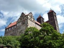 Castello-collina di Quedlinburg Fotografia Stock