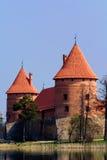 Castello con acqua Fotografia Stock Libera da Diritti