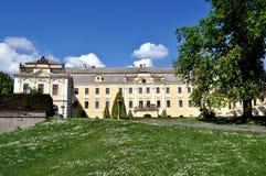 Castello con cielo blu Fotografie Stock Libere da Diritti