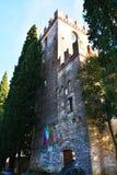Castello, Conegliano and Torre della Campana. Castello and Torre della Campana, in Conegliano Veneto, in Veneto, Treviso region, north Italy Stock Photo