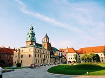 Castello a Cracovia Wawel fotografie stock