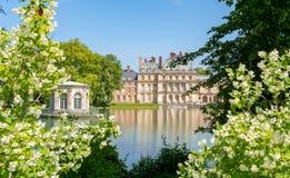 Castello de Fontainebleau del palazzo di Fontainebleau vicino a Parigi, Francia immagine stock