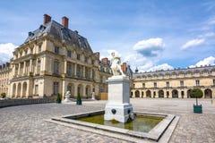 Castello de Fontainebleau del palazzo di Fontainebleau vicino a Parigi, Francia immagine stock libera da diritti