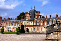 Castello de Fontainebleau vicino a Parigi fotografia stock libera da diritti