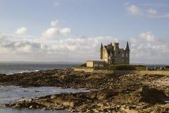 Castello de quiberon un basse di maree Immagine Stock Libera da Diritti