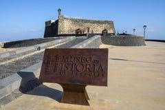 Castello de SAN Gabriel Arrecife σε Lanzarote Στοκ φωτογραφία με δικαίωμα ελεύθερης χρήσης