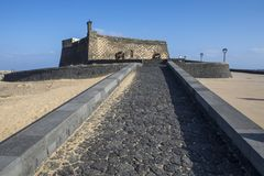 Castello de SAN Gabriel Arrecife σε Lanzarote Στοκ Εικόνες