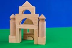 Castello dei blocchi di legno Fotografia Stock Libera da Diritti