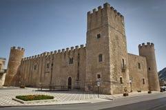 Castello dei Conti di Modica。 免版税库存照片