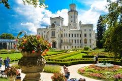 Castello del ¡ di Hlubokà sopra la Moldava fotografie stock libere da diritti