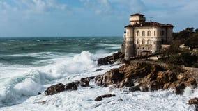 Castello del Boccale в ветреном дне в Ливорно стоковые фотографии rf