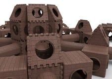 Castello del campo da giuoco Fotografia Stock