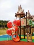 Castello del campo da giuoco dei bambini fotografia stock