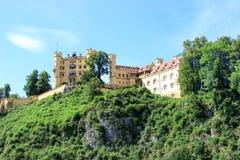 Castello del castello di Hohenschwangau in alpi bavaresi, Germania Fotografia Stock Libera da Diritti