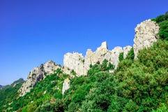 Castello del cataro di Peyrepertuse Immagini Stock