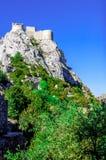 Castello del cataro di Peyrepertuse Fotografia Stock Libera da Diritti