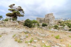 Castello del crociato, Byblos, Libano Fotografie Stock