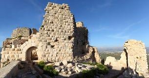 Castello del crociato di Beaufort, Libano del sud Fotografia Stock Libera da Diritti