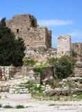 Castello del crociato di Byblos, (il Libano) Fotografia Stock Libera da Diritti