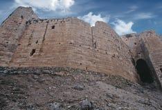 Castello del crociato in Siria Immagine Stock