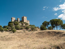 Castello del del Rio di Almodovar Immagini Stock