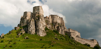 Castello del ¡ di SpiÅ - ské Podhradie del ¡ di SpiÅ Fotografie Stock Libere da Diritti