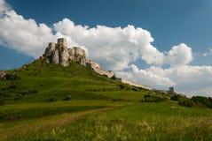Castello del ¡ di SpiÅ - ské Podhradie del ¡ di SpiÅ Fotografia Stock