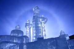 Castello del ghiaccio Fotografie Stock Libere da Diritti