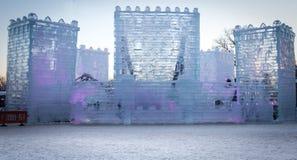 Castello del ghiaccio Fotografie Stock