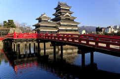Castello del giapponese di Matsumoto Fotografia Stock