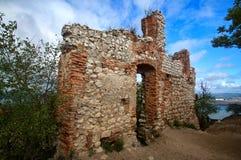 Castello del hradek di Sirotci del castello di rovina in repubblica Ceca Immagine Stock