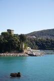 Castello del litorale di Lerici Fotografia Stock Libera da Diritti
