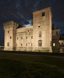Castello del mantua Lombardia Italia Europa di notte di St George Fotografie Stock Libere da Diritti