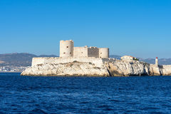 Castello del mare, a sud della Francia, castello su un'isola Fotografia Stock