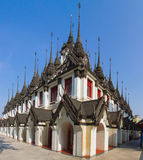 Castello del metallo in tempio di Ratchanatda Immagine Stock Libera da Diritti