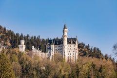 Castello del Neuschwanstein in alpi bavaresi, Germania Fotografia Stock Libera da Diritti