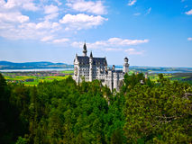 Castello del Neuschwanstein in Baviera, Germania Fotografia Stock