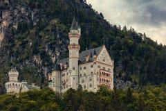 castello del Neuschwanstein in Baviera vicino a Schwangau Immagini Stock Libere da Diritti