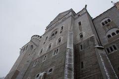 Castello del Neuschwanstein nell'orario invernale Fussen germany Chiuda sulla vista Fotografie Stock Libere da Diritti