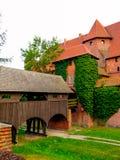 Castello del od Malbork del ponte dell'entrata immagine stock