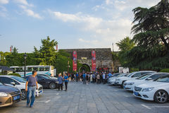 Castello del portone di Nanchino Cina immagine stock libera da diritti