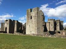 Castello del raglan, Galles immagini stock