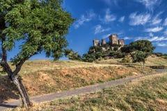 Castello del Rio, di Almodovar è un coraggio dell'origine musulmana, Immagine Stock