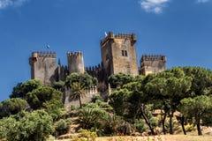 Castello del Rio, di Almodovar è un coraggio dell'origine musulmana, Immagini Stock